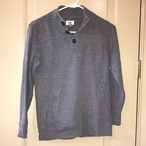 Old navy grey sweater with buttons